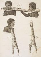 BLACK SLAVES WITH WOODEN YOKE SENEGAL 1789