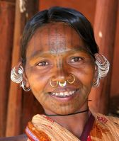 TATTOO INDIA KHOND WOMAN