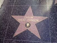 MAGIC JOHNSON STAR ON THE HOLLYWOOD WALK OF FAME